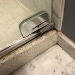Shower hinge.