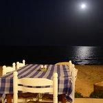 Nighttime beach setting