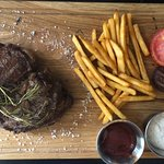 Ribeye Steak with Fries