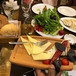 Dumplings, Salad & Cheese