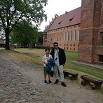 with my son inside castle