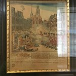 One of the original Revere prints of the Boston Massacre