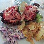 Crayfish open sandwich.