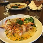 Shrimp and a drink