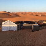 camp in the desert of merzouga