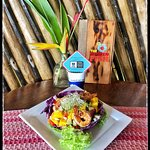fresh mango and shrimp salad - lunch special