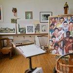 Rockwell's art studio