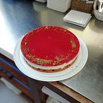 Cheesecake abricot et glaçage à la fraise