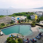 View over the pool to Bunaken