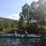 kayak in loch tummel