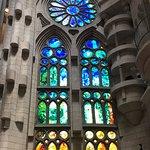 Beautiful windows in La Sagrada Familia