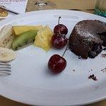 Coulant au chocolat et fruits frais (délicieux!)