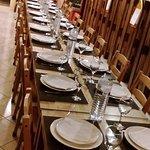 Espaço acolhedor para jantares de grupo!