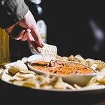 Dip Picante de Queijo com Carne.