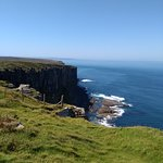Looking left from the Dunnet Head viewing area.