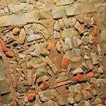 Detalles de los trabajos en concha y madera.