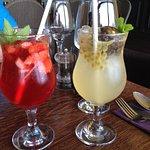House made lemonades - strawberry, passionfruit