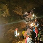 Cave proper...A lot of tourists that day