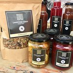We have a large selection of preserves, sauces, cordial, lemon butter, granola & muesli.