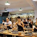 Ngoc Trinh, Kathy Uyen at Grain cooking class