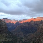 canyon overlook at sunrise