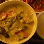 Pork green curry