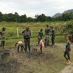 mud baking in Fiji