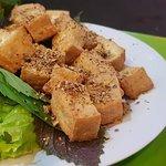 Deep fried toufu with lemongrass