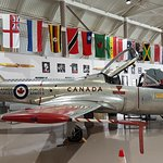 Inside the hangar at Canadian Warplane Heritage Museum