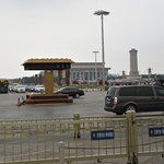 After exiting the underpass and looking South at Tiananmen Square.