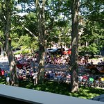 4th of July parade view from private room balcony