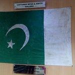 Captured inverted flag of Pakistan