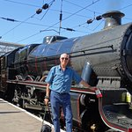 "Myself with Jubilee ""Leander"" at Carlyle Station"