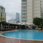 Pool two floors above the busy streets below. A must to relax beside and have a cooling swim.