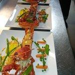 Le homard à la Trattoria des Halles. Ni