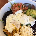 Poached Eggs over Mexican Salad