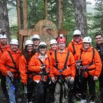 This is our group of 6 that completed the zipline with another family. So much fun