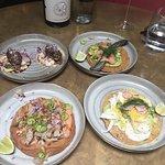 Tacos and tostada