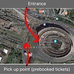 Where to pick up prebooked tickets before going to the 'skip the line' entrance.