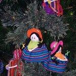 Superb colourful Peruvian dolls on the Xmas tree