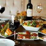 Starters with Turkish wine