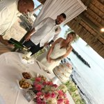 Our Wedding Ceremony, Collen serving champagne