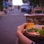 Pizza at sunset :D