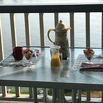 Breakfast on our balcony