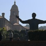 Mr Mandela statue against the Union Building