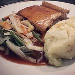 Pie and creamed potatoes