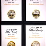 voted best asian restaurant in elkhart county 4 years straight