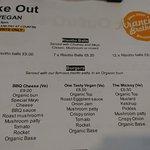 Take-out menu