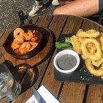 prawns and calamari