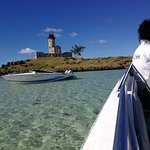 Most Memorable speed boat trip to Ile aux Cerfs, via ile aux Fouquets lighthouse ruins. Fabulous